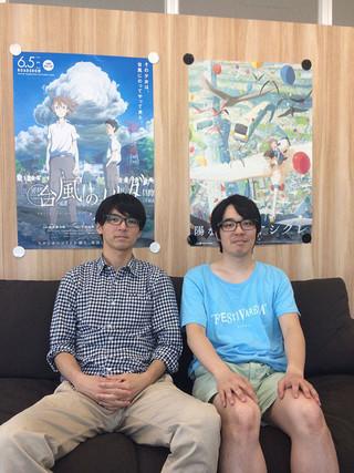 左から新井陽次郎監督と石田祐康