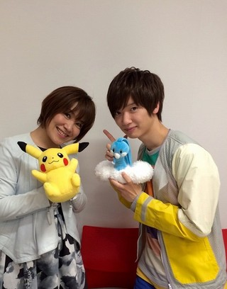 松本梨香(左)と佐香智久(右)