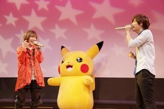 「ポケモン XY&Z」キャラソンCD第1弾リリースイベントで松本梨香と佐香智久が熱唱