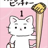 野球選手の猫が活躍するショートアニメ「猫ピッチャー」DVDが発売決定