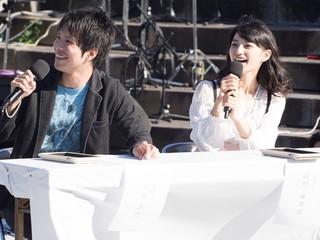 イベントに登壇した 石谷春貴(左)と高野麻里佳