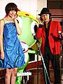 内藤大助、歌を亀田兄弟と比べられて……?「超劇場版ケロロ軍曹」会見