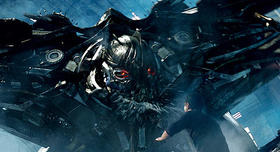 きらびやかな上海の街でロボットたちが死闘を展開「トランスフォーマー」