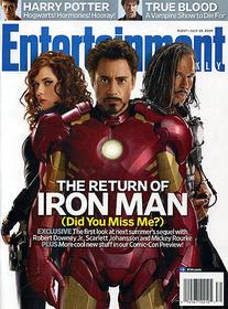 夫R・レイノルズともどもマーベル仲間「アイアンマン2」
