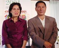 今回上映される作品の中の1つ、「乳母」に出演の女優マヤ・サンサと北野監督「HANA-BI」