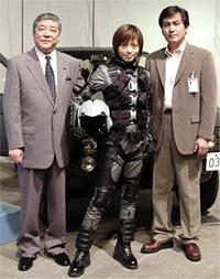 (左より)中尾彬、釈由美子、宅麻伸「ゴジラ対メカゴジラ」