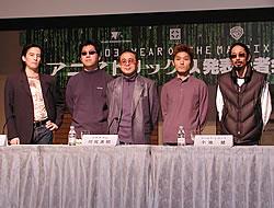(左より)前田真宏、渡辺信一郎、川尻善昭、小池健、森本晃司「アニマトリックス」