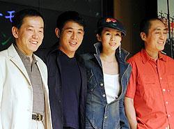 (左より)ビル・コン、ジェット・リー チャン・ツィイー、チャン・イーモウ「HERO」
