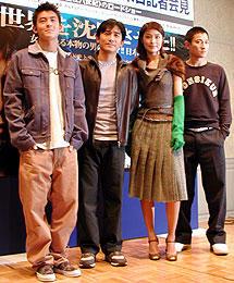 (左より)エディソン・チャン、トニー・レオン、 ケリー・チャン、アンディ・ラウ「+1(プラスワン)」