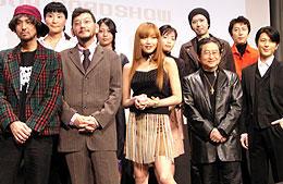 (前列左より)村上、庵野監督、佐藤、永井、及川「キューティーハニー(1974)」