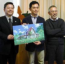 (左より)矢内廣氏、宮崎吾朗氏、 鈴木敏夫プロデューサー