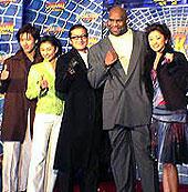 (左より)ワン・リーホン、菊川怜、陣内孝則 ボブ・サップ、山田優「スパイダーマン」