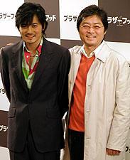 (左より)チャン・ドンゴン、カン・ジェギュ監督「ブラザーフッド」