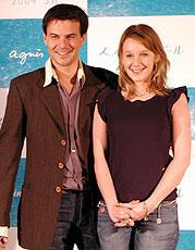 (左より)フランソワ・オゾン監督、 リュディヴィーヌ・サニエ「まぼろし」