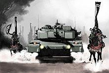 発表された宣伝用イメージボード「戦国自衛隊」