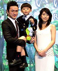 (左より)中村獅童、武井証、竹内結子「世界の中心で、愛をさけぶ」