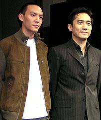 (左より)チャン・チェン、トニー・レオン「2046」