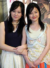 19歳のクァク・チミン(左)は 撮影のために大学受験に失敗したとか。 ハン・ヨルム(右)は21歳「サマリア」