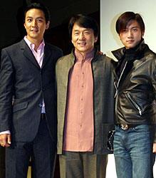 (左より)ダニエル・ウー、ジャッキー・チェン、 ニコラス・ツェー「香港国際警察/NEW POLICE STORY」