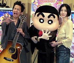 (左より)波田陽区、しんちゃん、坂井真紀