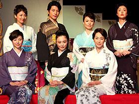 (後列左から)松下由樹、及川光博、杉田かおる、浅野ゆう子 (前列左から)井川遥、仲間由紀恵、高島礼子「大奥」