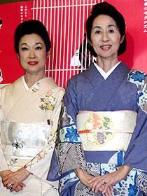 溝口監督を振り返った大女優2人 (左から)若尾文子、香川京子「祇園囃子」