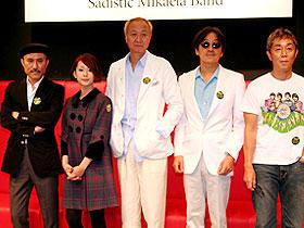 映画ではどんな素顔が見られるのか? (左より)高橋幸宏、木村カエラ、加藤和彦、高中正義、小原礼「パッチギ!」