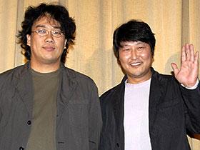 韓国の黒澤&三船!? (左から)ポン・ジュノ監督とソン・ガンホ「グエムル 漢江の怪物」