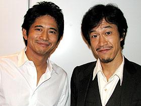 「チャーリー・ジェイド」日本語吹き替えを 担当した小山力也(右)、萩原聖人(左)「マトリックス」