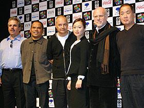 (左から)ビル・メカニック、ガリン・ヌグロホ監督、 ジャン=ピエール・ジュネ監督、工藤夕貴、 マルコ・ミュレール、柳町光男