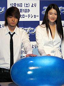 完成版を見ずしてアフレコに挑戦した (左から)山田孝之、小雪「エラゴン 遺志を継ぐ者」