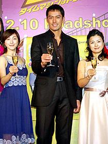 「バブルへGO!!/タイムマシンはドラム式」 (左から)広末涼子、阿部寛、薬師丸ひろ子「バブルへGO!! タイムマシンはドラム式」