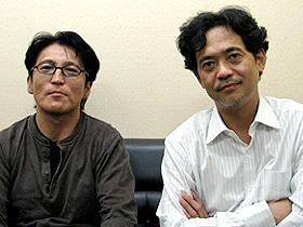 「幸福な食卓」(左から)小松隆志監督、長谷川康夫「幸福な食卓」