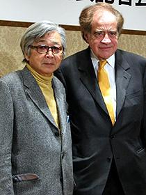 (左から)山田洋次監督、アーサー・コーン「幸福の黄色いハンカチ」