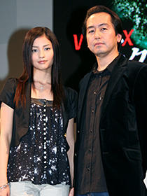 「ベクシル/2077日本鎖国」 (左から)黒木メイサ、曽利文彦監督「ピンポン」