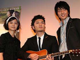 「初雪の恋/ヴァージン・スノー」 (左から)宮崎あおい、森山直太朗、イ・ジュンギ「王の男」