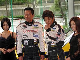 """哀川、遠藤も""""丸い""""中年オヤジになりました (左から)MEGUMI、遠藤憲一、哀川翔、酒井法子「SS エスエス」"""