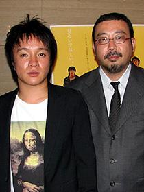 (左から)濱田岳、中村義洋監督「アヒルと鴨のコインロッカー」