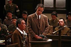 軍事法廷の藤田まこと演じる岡田中将「博士の愛した数式」