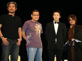 (左から)平山夢明、中田秀夫監督、尾上菊之助、京極夏彦「怪談」