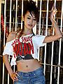 及川奈央が渋谷センター街で緊縛イベント「ブラック・スネーク・モーン」