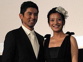日中合作映画「夜の上海」で共演した (左から)本木雅弘とビッキー・チャオ「夜の上海」