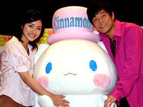 「シナモン the movie」で声優を務める2人 (左から)結婚は当分先の石原さとみ、 子供の予定は未定の陣内智則「シナモン the movie」