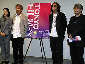 (左から)林加奈子、山崎裕、行定勲、市山尚三「誰も知らない」