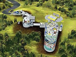 ジヌーは教団の悪の帝王 (地下シェルターのデザイン画といわれているイラスト)「宇宙戦争」
