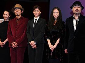 (左から)りょう、宮藤官九郎、内田有紀、蒼井優、松尾スズキ監督「クワイエットルームにようこそ」