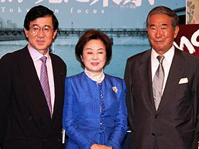 全員、昔は人気スター! (左から)岡田祐介氏、司葉子、石原慎太郎都知事「危険な英雄」