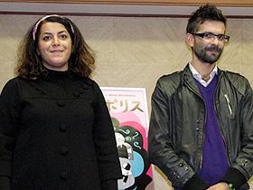 (左から)マルジャン・サトラピ監督、バンサン・パロノー監督「ペルセポリス」
