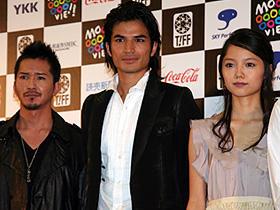 (左から)虎牙光揮、尚玄、宮崎あおい「ハブと拳骨」