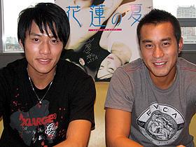 2人とも本当はストレートです (左から)ブライアン・チャン、ジョセフ・チャン「花蓮の夏」
